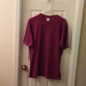 Old Navy Men Wine Crew Dress TShirt Sz Large